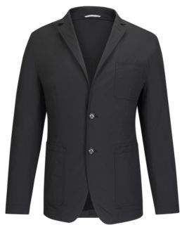 BOSS Hugo Nylon Sport Coat, Slim Fit Noas 46R Black
