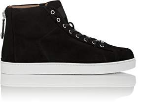 Gianvito Rossi Men's Back-Zip Suede Sneakers