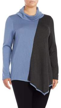 Context Plus Asymmetrical Cowlneck Sweater