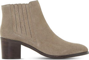 Dune Ladies Taupe Peter Suede Ankle Boots