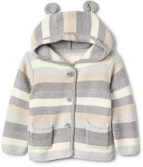 Gap Stripe bear garter sweater