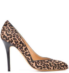 Alexa Wagner leopard print pumps
