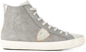 Philippe Model logo patch hi-top sneakers