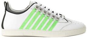 DSQUARED2 striped criss-cross laced sneakers