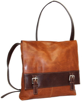 Women's Nino Bossi Day Lily Petal Leather Crossbody