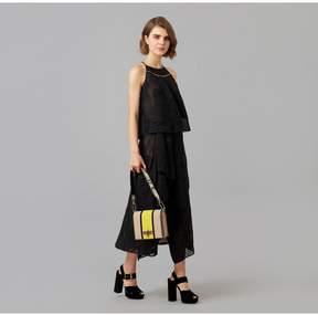 Amanda Wakeley   Black Chiffon Fil Coupe Layered Dress   L   Black