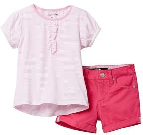 Joe's Jeans Short Sleeve Top & Shorts Set (Toddler Girls)