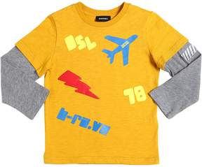 Diesel Printed Cotton Jersey T-Shirt