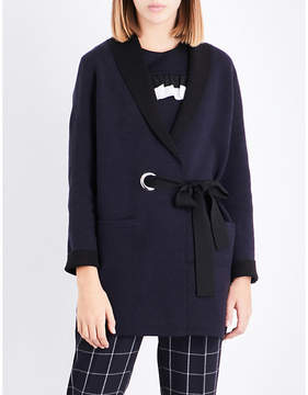 Claudie Pierlot Wrap-around knitted cardigan