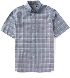 Daniel Cremieux Signature Glen Plaid Slub Short-Sleeve Woven Shirt