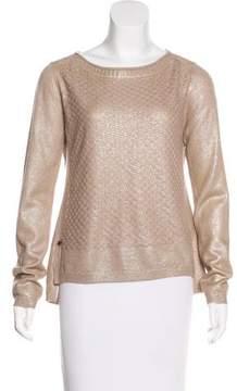 Maliparmi Wool-Blend Metallic Sweater