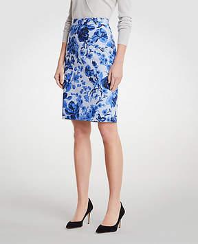 Ann Taylor Curvy Floral Toile Pencil Skirt
