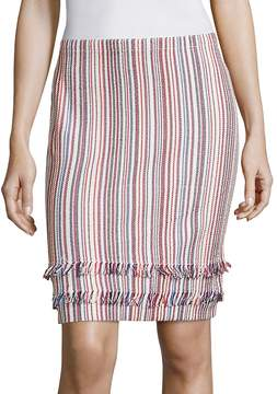BOSS Women's Fabienne Striped Knit Skirt