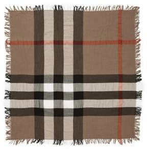 Women's Burberry Check Merino Wool Scarf