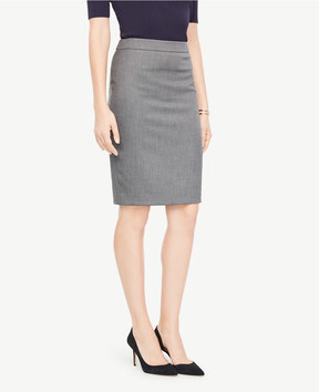 Ann Taylor Curvy Sharkskin Pencil Skirt