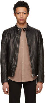 Belstaff Black Leather Northcott Jacket