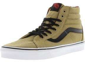 Vans Sk8-Hi Reissue Twill And Gingham Cornstalk / Black Ankle-High Canvas Skateboarding Shoe - 8.5M 7M