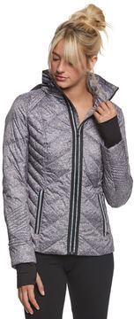 Blanc Noir Puffer Jacket with Reflective Trim 8164049