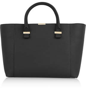Victoria Beckham Quincy Textured-leather Tote - Black