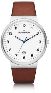 Skagen Men's Brown Steel Watch.