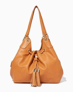 Charming charlie Citywest Drawstring Hobo