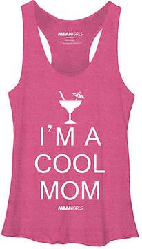 Fifth Sun Pink Heather 'Cool Mom' Tank - Juniors
