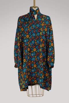 Balenciaga Flower long-sleeved dress