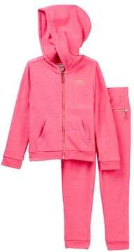 Juicy Couture Fuchsia Choose Juicy Terry Hoodie & Pant Set (Big Girls)