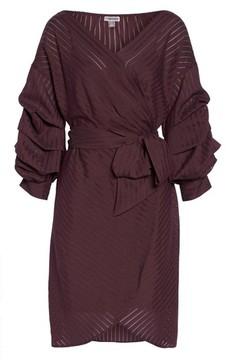 Chelsea28 Women's Shadow Stripe Wrap Dress