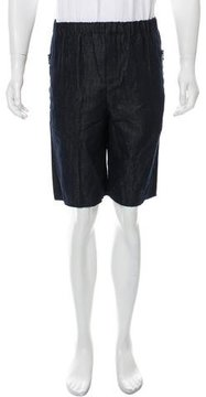 Carven Dark Wash Denim Shorts