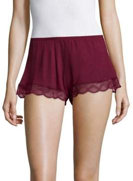 Eberjey Lace Cuff Shorts