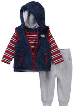 Little Me Navy 3-Piece Vest Set (Baby Boys)