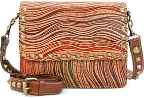 Patricia Nash Wavy Striped Hermosa Square Flap Small Crossbody