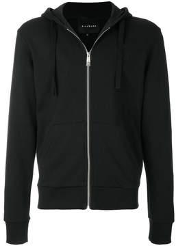 John Richmond zipped hooded sweatshirt