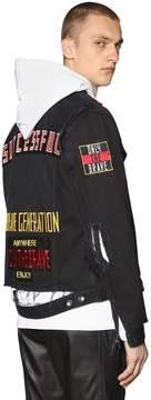 Diesel Destroyed Cotton Denim Jacket W/ Patches