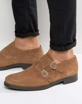 Selected Oliver Woven Suede Monk Shoes