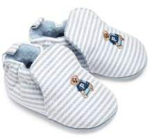 Ralph Lauren Baby's Percie Stripe oxford Booties