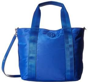 Tory Burch Quinn Small Zip Tote Tote Handbags - BLACK - STYLE