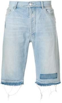 Marcelo Burlon County of Milan knee length denim shorts