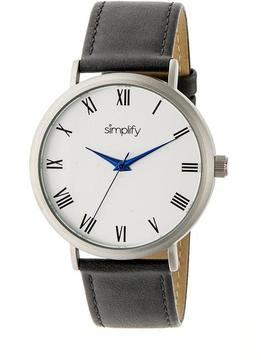 Simplify The 2900 Collection SIM2902 Unisex Watch with Leather Strap