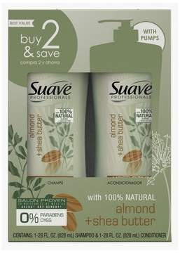 Suave Professionals Almond and Shea Butter Shampoo and Conditioner 28oz,pk of 2
