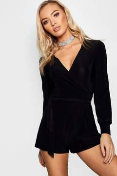 boohoo Wrap Over Style Playsuit
