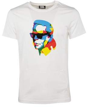 Karl Lagerfeld Men's 58224116 White Cotton T-shirt.
