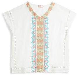 Design History Girl's Embroidered Sleeveless Top