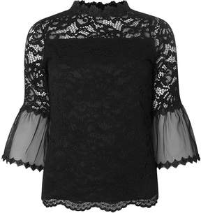 Dorothy Perkins Lace Flutter Sleeve Top