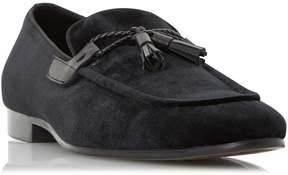 Dune London RESCUER - BLACK Tassel Detail Velvet Loafer Shoe