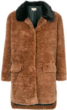 Bellerose faux-fur fitted coat