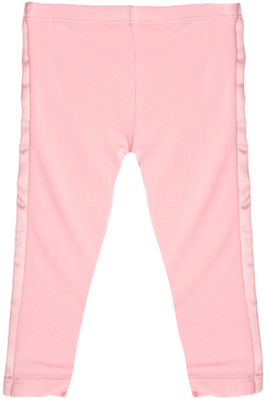 Kickee Pants Solid Legging with Ribbon Stripe - Pink, Size 6-12m
