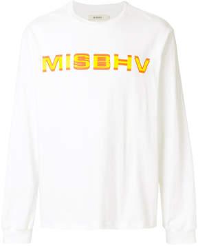 Misbhv logo printed sweatshirt