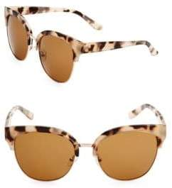 Fantas-Eyes 58MM Clubmaster Sunglasses